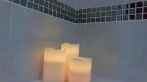 Your hosts are pleased to provide electric candles for those romantic baths in the en-suite